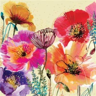 Colourful Poppy Card