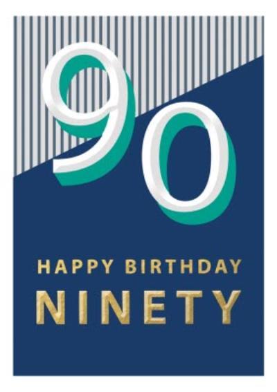 90 Happy Birthday Block Colour Card