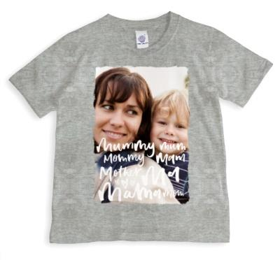 All The Nice Things To Say Personalised Photo T-Shirt For Mum