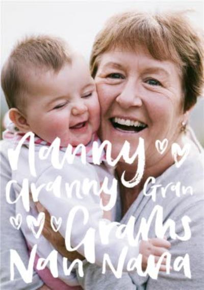 Mother's Day Card Photo Upload Card Nanny Granny
