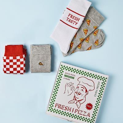 Pizza Socks 4-Pack Gift Set