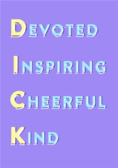 Devoted Inspiring Cheerful Kind Personalised Greetings Card