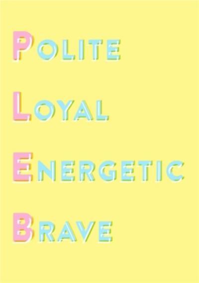 Loyal Energetic Brave Personalised Happy Birthday Card