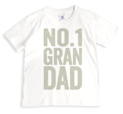 Father's Day No.1 Grandad Personalised T-shirt