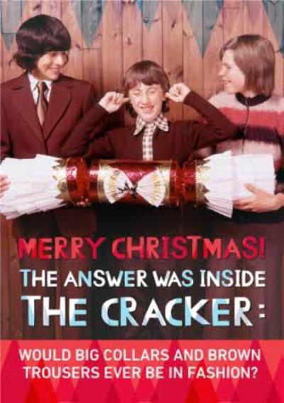 Rude Retro Giant Cracker Personalised Christmas Card