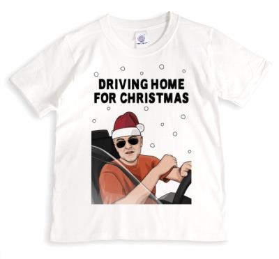 Driving Home For Christmas Funny Spoof Tshirt