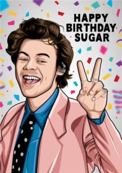Happy Birthday Sugar Celeb Spoof Card