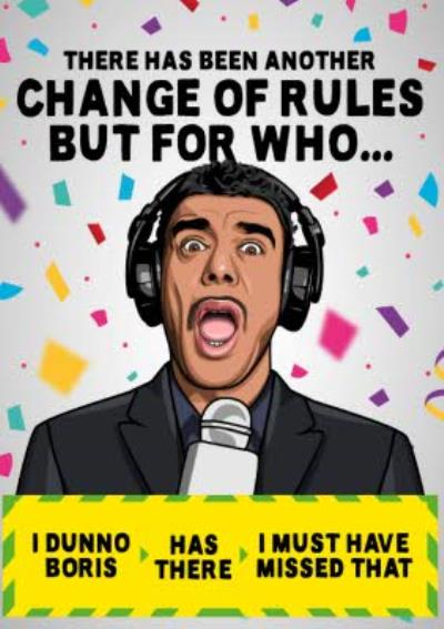 Another Change of Rules Football Covid Funny Birthday Card