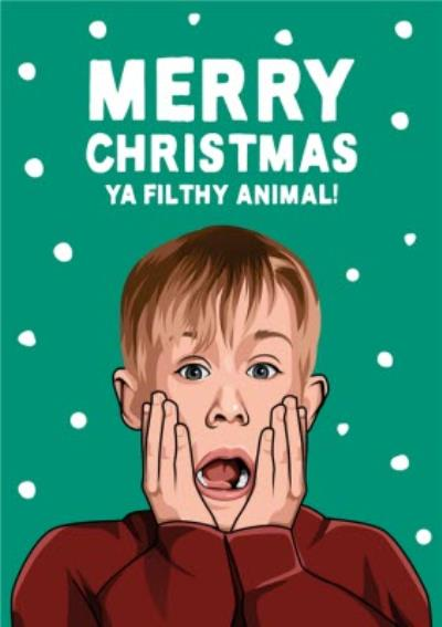Merry Christmas Ya Filthy Animals Funny Film Spoof Christmas Card