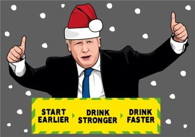 Drink Faster Covid Funny Spoof Christmas Card