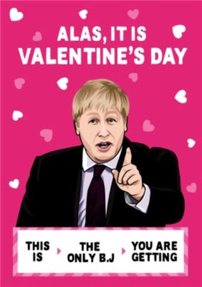 Alas It Is Valentine's Day Funny Spoof Card