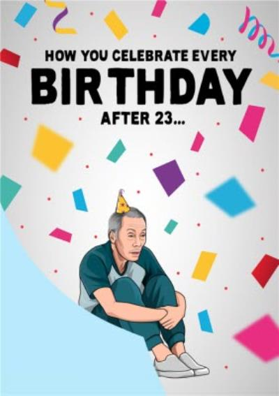Funny Topical TV Show Old Age Birthday Card
