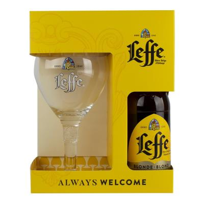 Leffe Blonde and Chalice Glass