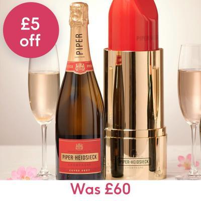 Piper-Heidsieck Cuvee Brut Champagne Lipstick Gift 75cl