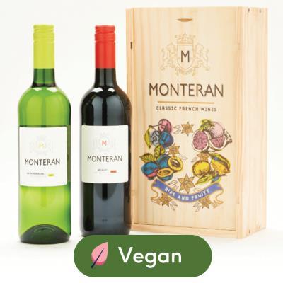 Monteran Merlot 75cl & Sauvignon Blanc 75cl Gift Set
