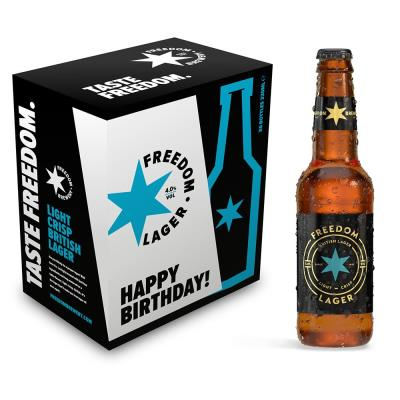 Happy Birthday Freedom Brewery Lager 6 Pack