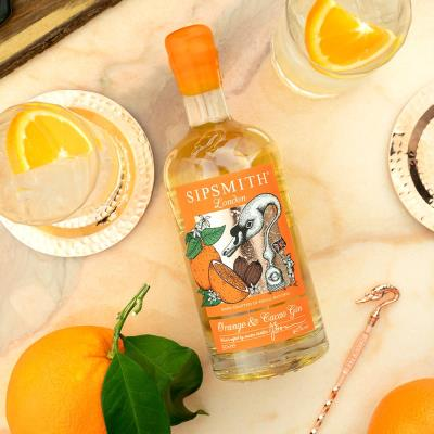 Sipsmith Orange & Cacao Gin with Stirrer Gift Set 50cl