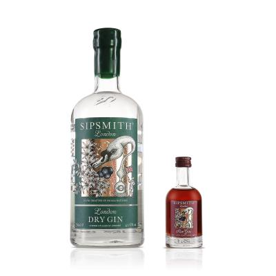 Sipsmith London Dry and Sloe Gin 75cl Gift Set