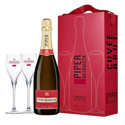 Piper Heidsieck Brut NV Champagne 750ml & Glasses Gift Set