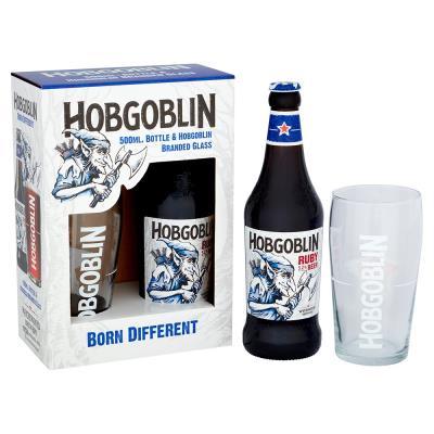 Hobgoblin Ruby Bottle & Glass Gift Set