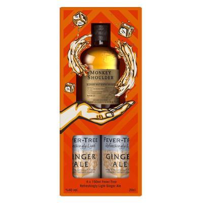 Monkey Shoulder Whisky & Fever Tree Ginger Ale Gift Set