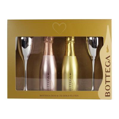 Bottega Gold & Rose Gold with Flutes Gift Set