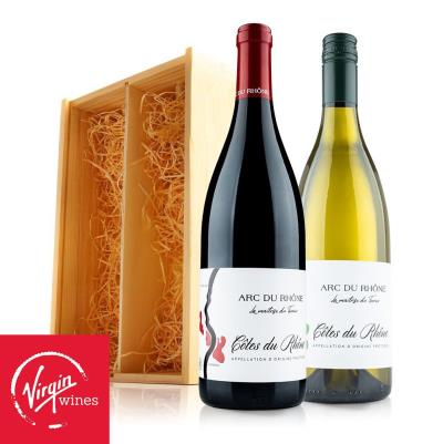 French Wine Duo in Wooden Gift Box