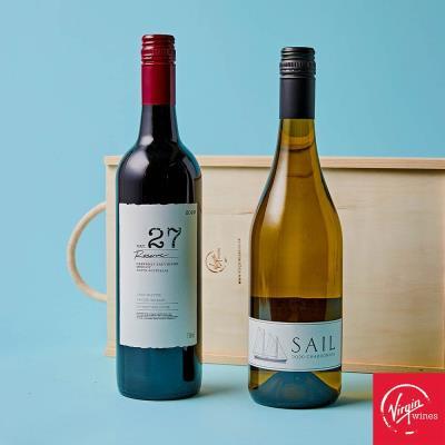 Aussie Wine Duo in Wooden Gift Box