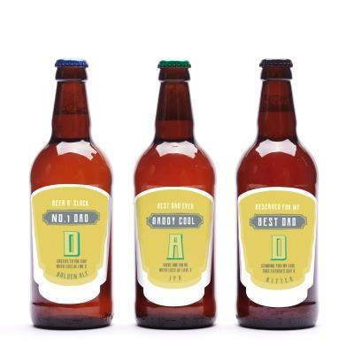 No.1 Dad Personalised Beer Trio