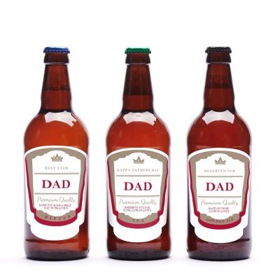Personalised Father's Day Beer Trio