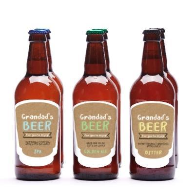Grandad's Personalised Beer Set of Six