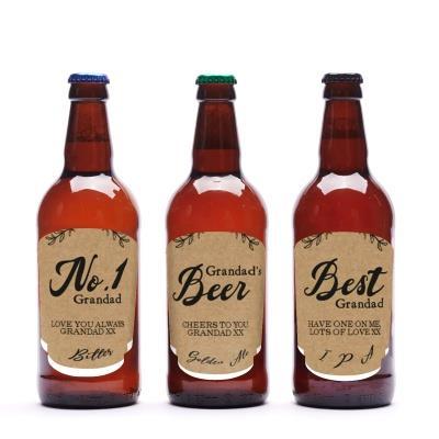 Best Grandad Personalised Beer Trio