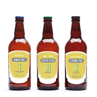 Thank You Personalised Beer Trio