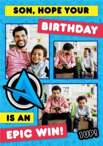 Ali A Gamers Son Hope Your Birthday Is An Epic Win Photo Upload Happy Birthday Card