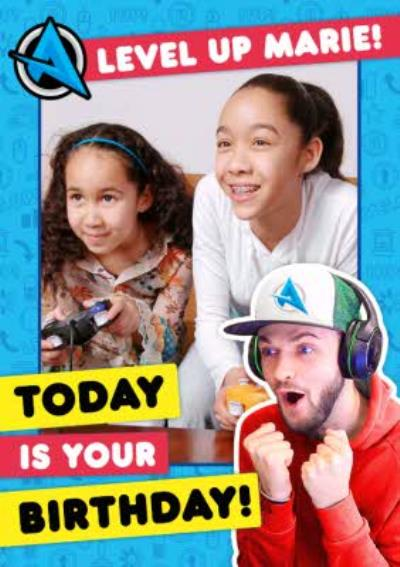 Ali A Level Up Today Is Your Birthday Photo Upload Happy Birthday Card