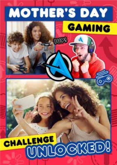 Ali A Gaming Challenge Unlocked Photo Upload Mother's Day Card