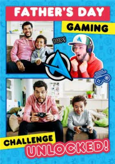 Ali A Gaming Challenge Unlocked Photo Upload Father's Day Card