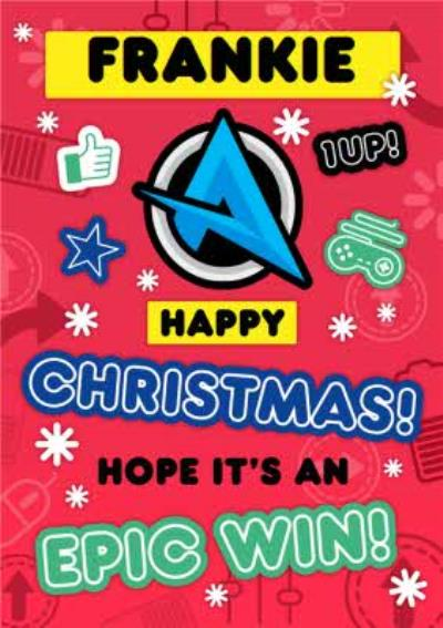 Ali A Gamer Epic Win Christmas Card