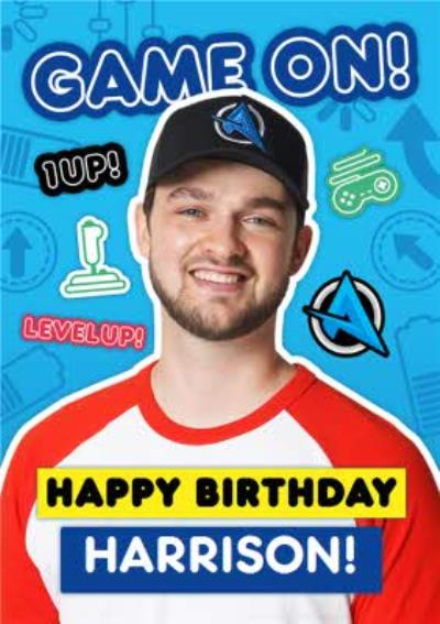 Ali-A Game On Gaming Birthday Card