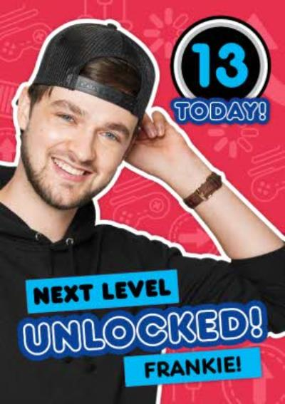 Ali-A Next Level Unlocked 13 Today Gaming Birthday Card