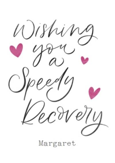Wishing You A Speedy Recovery Get well Card