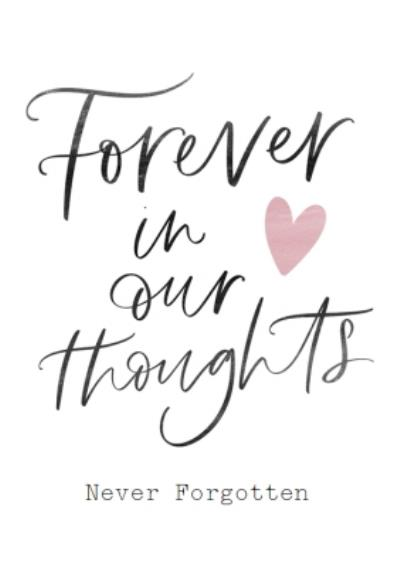 Forever In Our Thoughts Sympathy Card