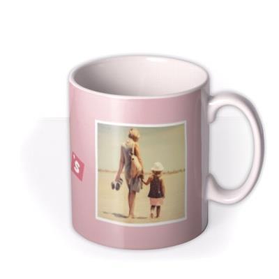 Pastel Blocks Photo Upload Happy Mother's Day Mug