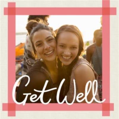 Get Well Soon Photo Upload Card