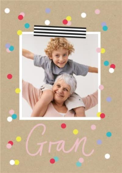 Mother's Day Card - Gran - photo upload card