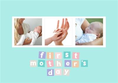 Mother's Day card - first Mother's Day - photo upload