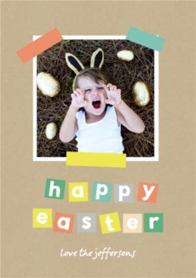 A Little Note Happy Easter Card