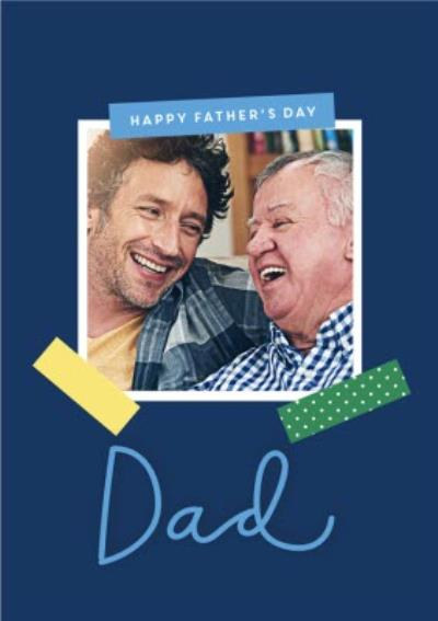 Happy Father's Day Photo frame photo Upload Card