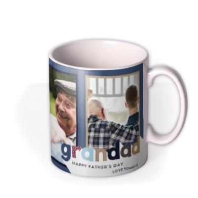 Grandad Father's Day Photo Upload Mug