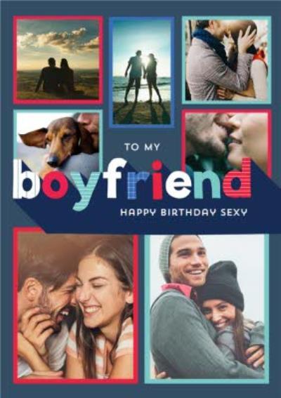 Boyfriend Photo Upload Personalised Birthday Card